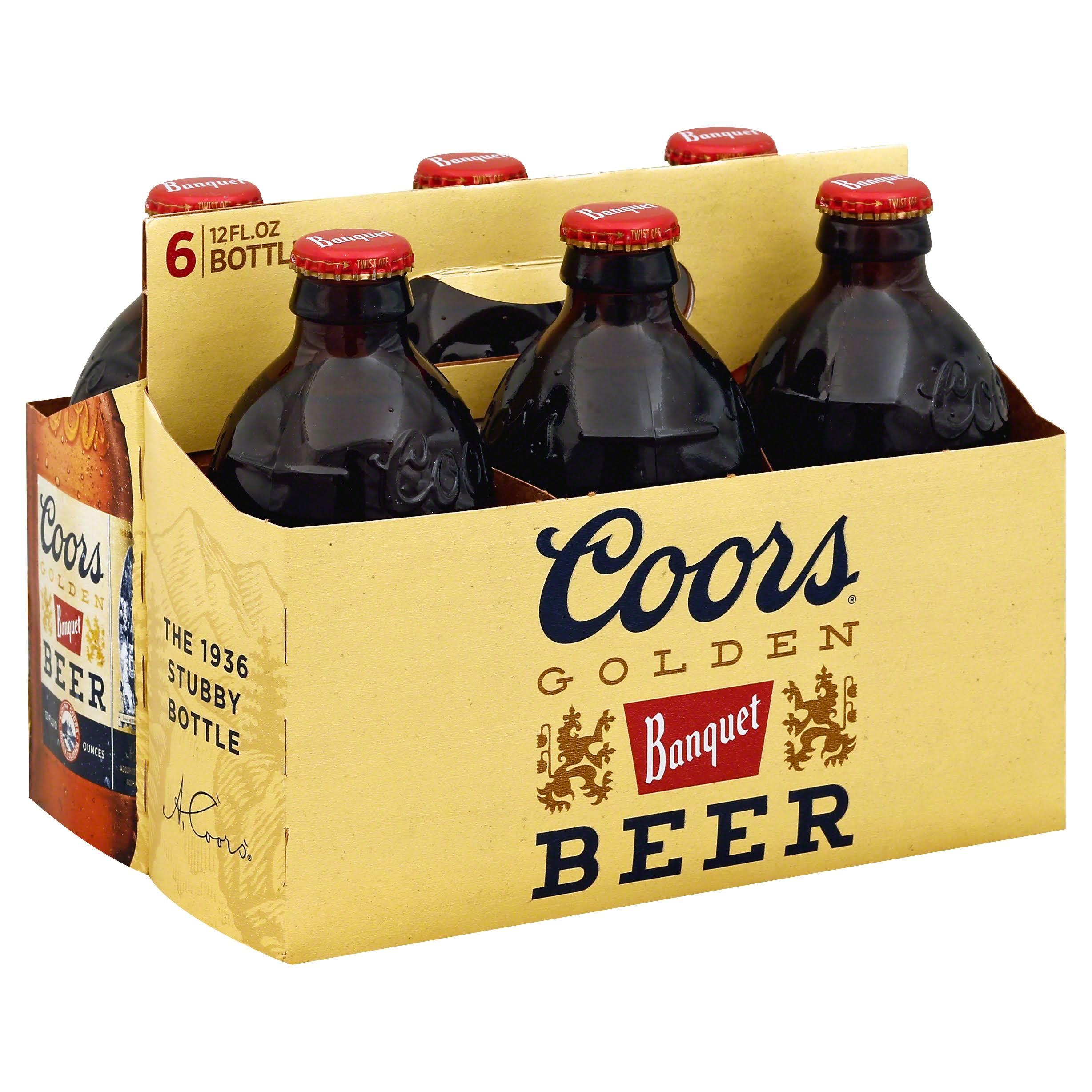 Coors Golden Banquet Beer - 6 Bottles