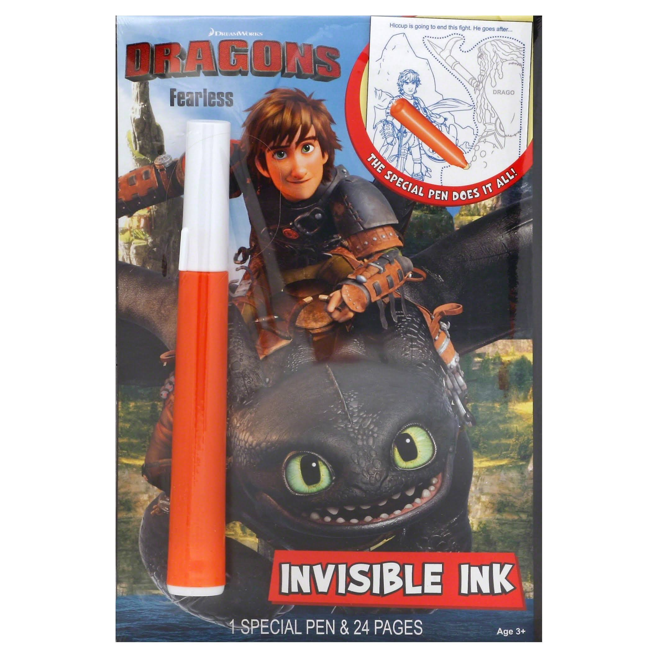 Dragons Fearless Invisible Ink Book