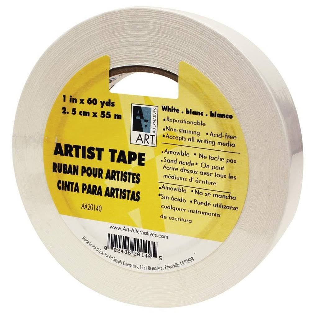 Art Alternatives Economy Artists Tape - White, 2.5cm x 55m
