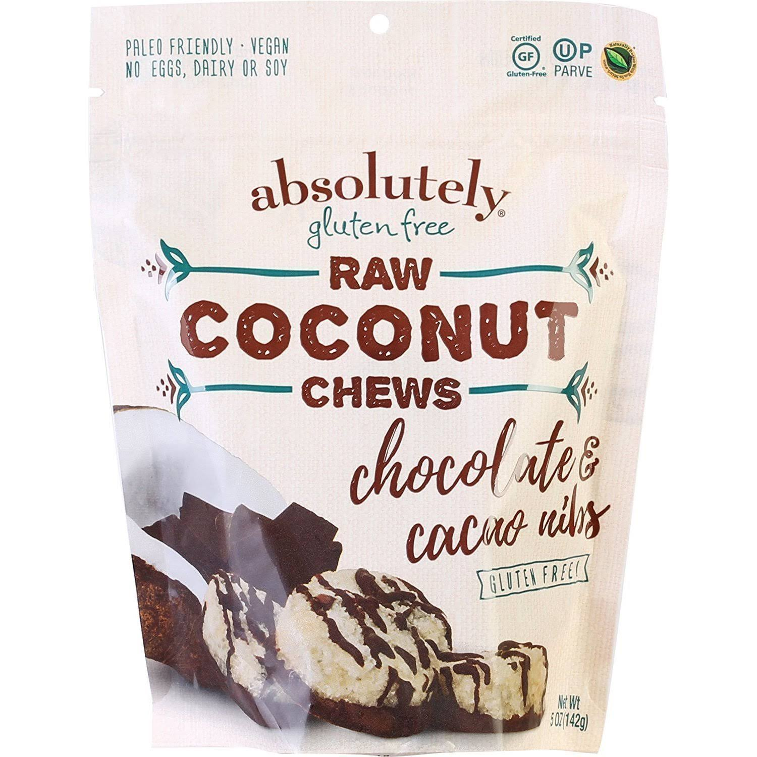 Absolutely Gluten Free Chews, Coconut Cocoa Nibs, Gluten Free - Pack of 12