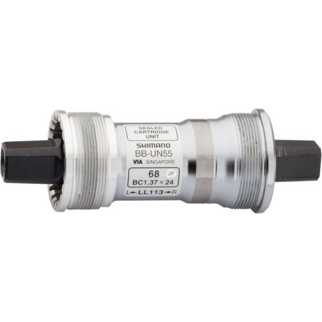 Shimano UN55 BB Square Taper Bottom Bracket - Silver, 68mm x 107mm