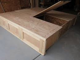 fabulous king bed frame with drawers plans and best 25 king size