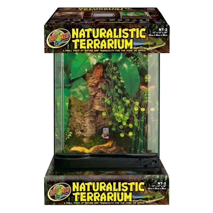 Zoo Med Laboratories SZMNT2 Naturalistic Terrarium - Medium, 12in x 12in x 18in