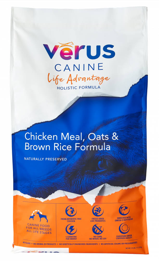 Verus Life Advantage Chicken Meal & Brown Rice Formula Dry Dog Food, 12lb
