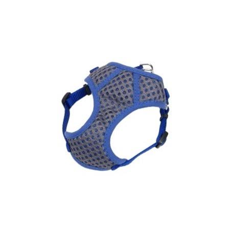 "Coastal Pet Products Comfort Soft Sport Wrap Nylon Adjustable Dog Harness - 11-13"", Grey with Blue"