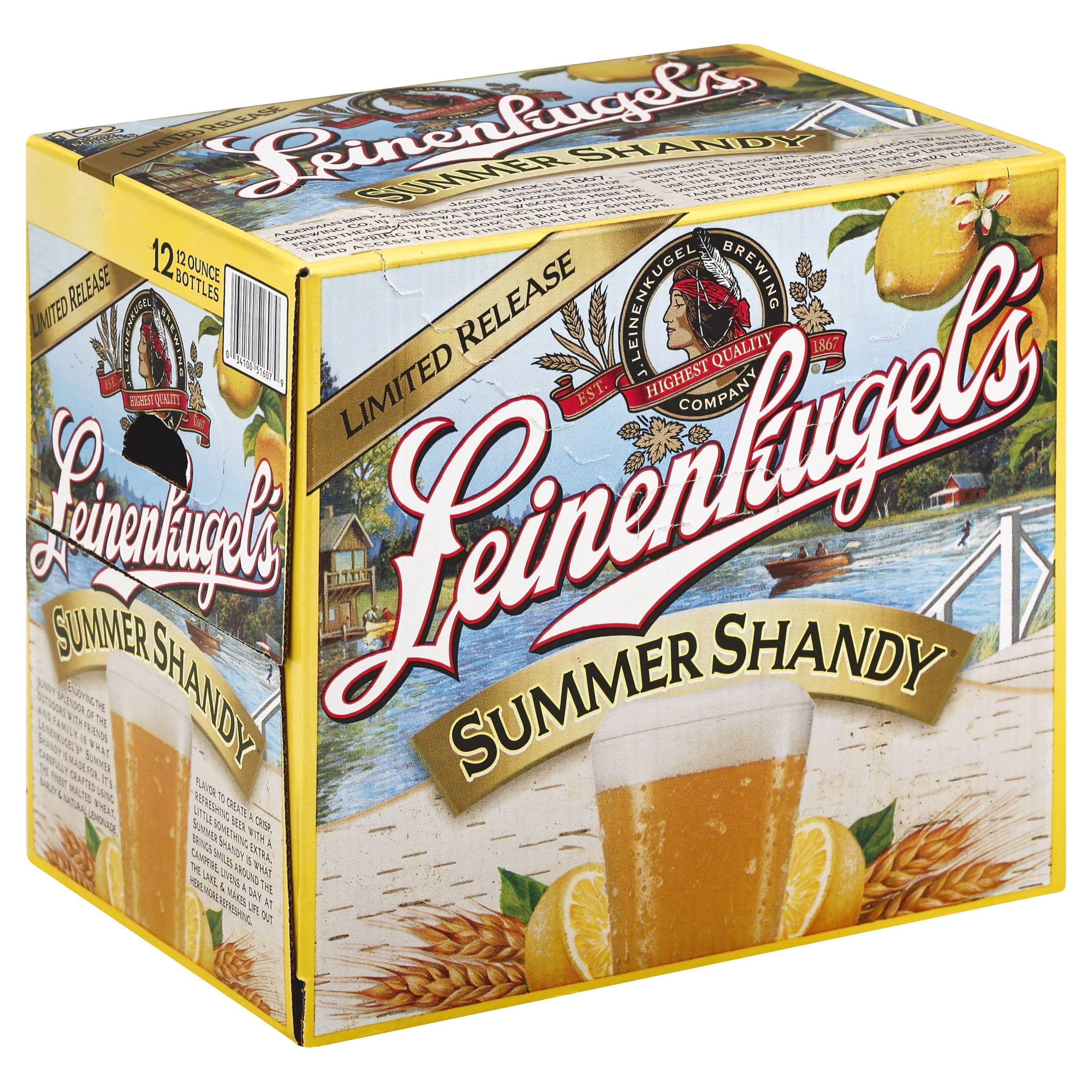 Leinenkugels Beer, Weiss, Summer Shandy - 12 pack, 12 oz bottles