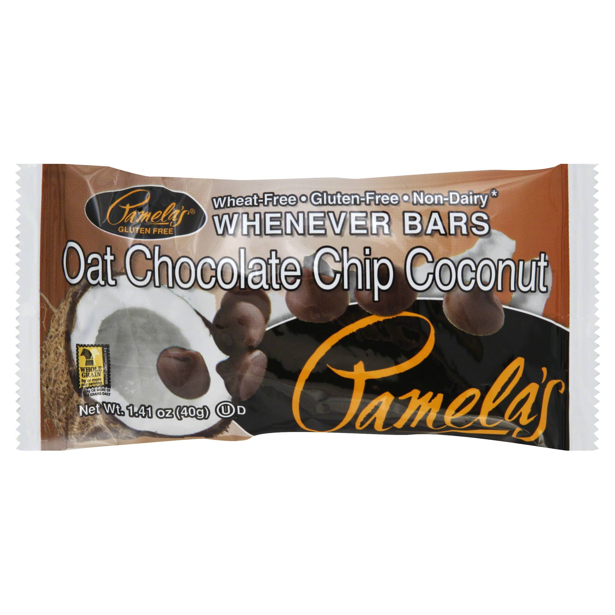 Pamelas Whenever Bars, Oat Chocolate Chip Coconut - 1.41 oz