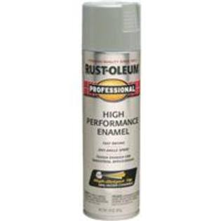 Rust Oleum Professional High Performance Enamel Spray Paint - Light Machine Gray, 15oz