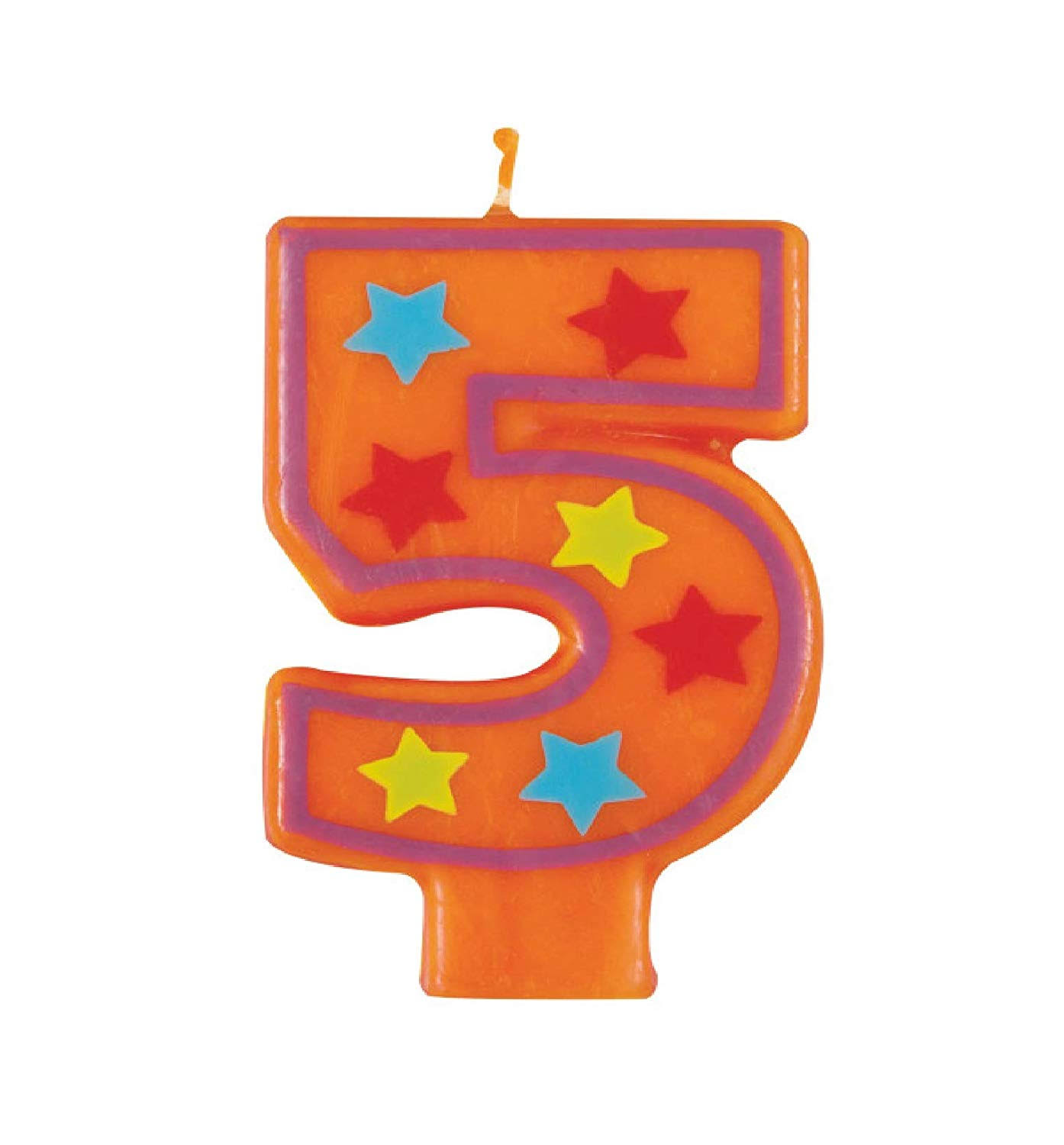 Unique Industries Decorative Birthday Number 5 Candle - Multicolor