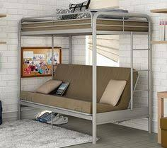 dorel twin over futon bunk bed with set of 2 mattress black kids
