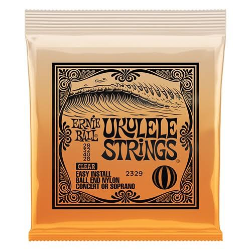 Ernie Ball Concert/Soprano Nylon Ball-End Ukulele Strings - Clear