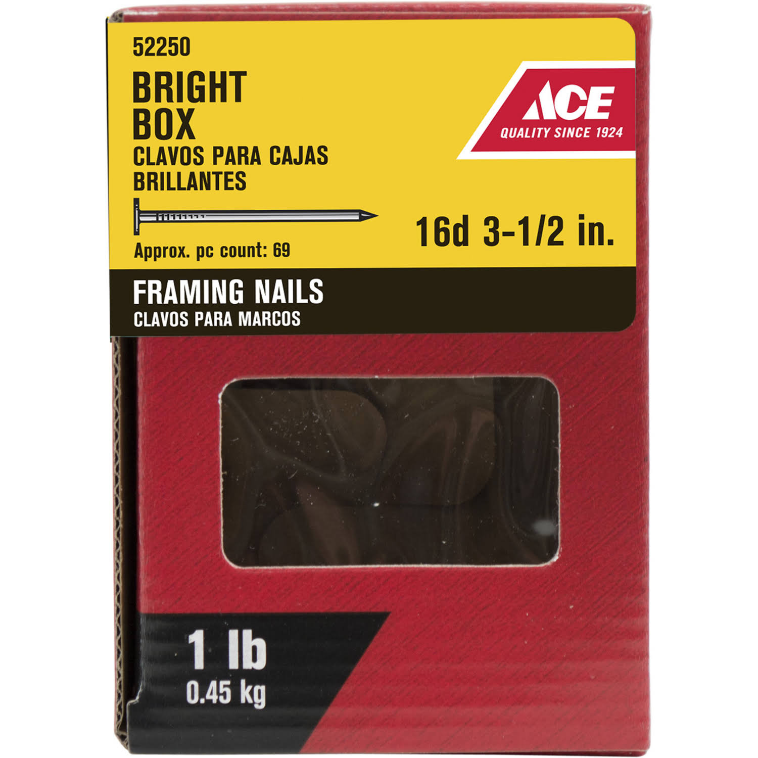 Ace Frame NAIL16D3.5BB1#, Silver
