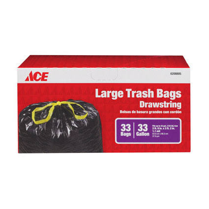 Ace Large Drawstring Trash Bag - 33 gal