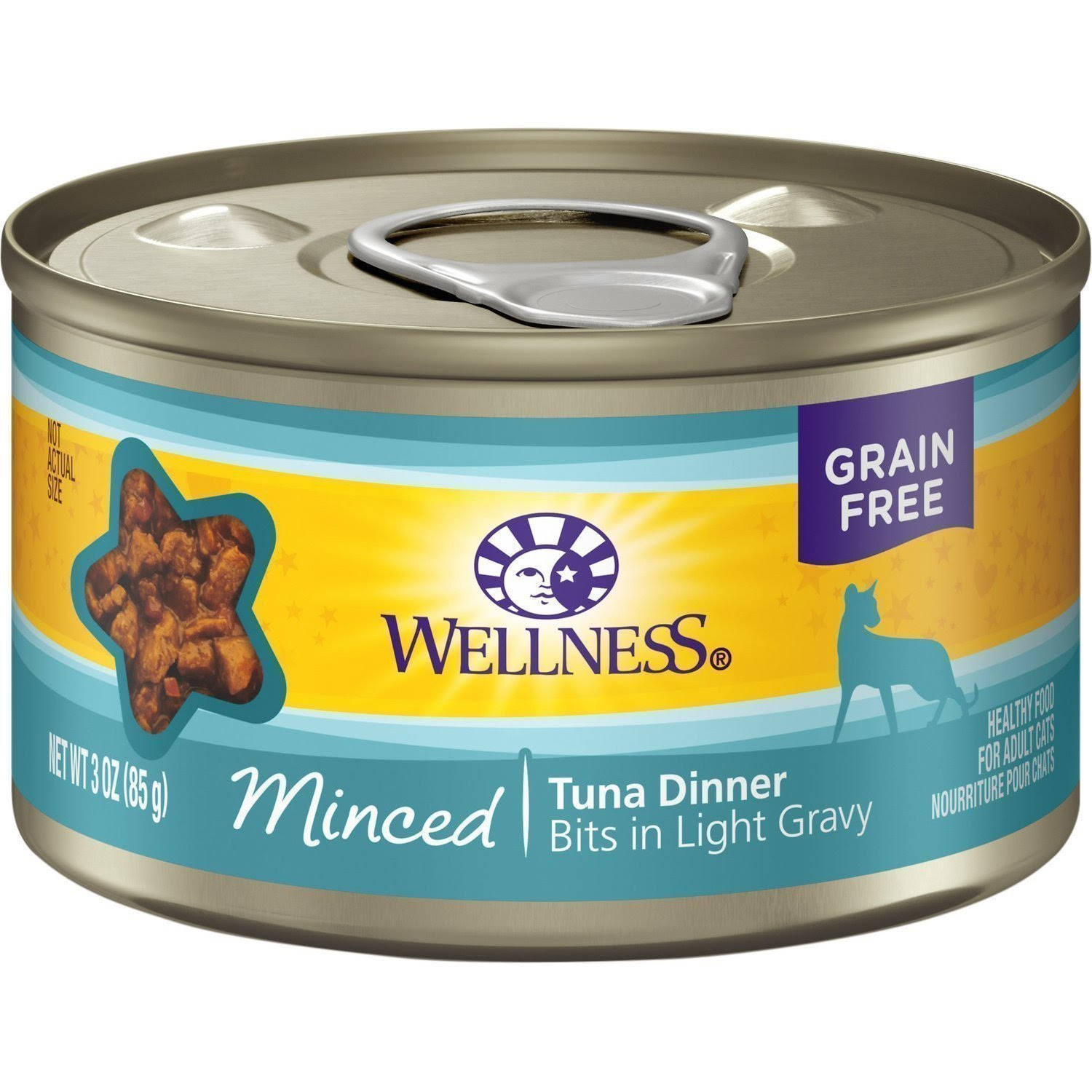 Wellness Minced Cuts Tuna Adult Canned Cat Food - 3oz