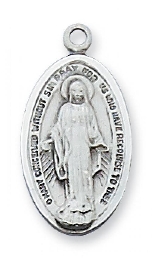 Sterling Silver Miraculous Medal Pendant