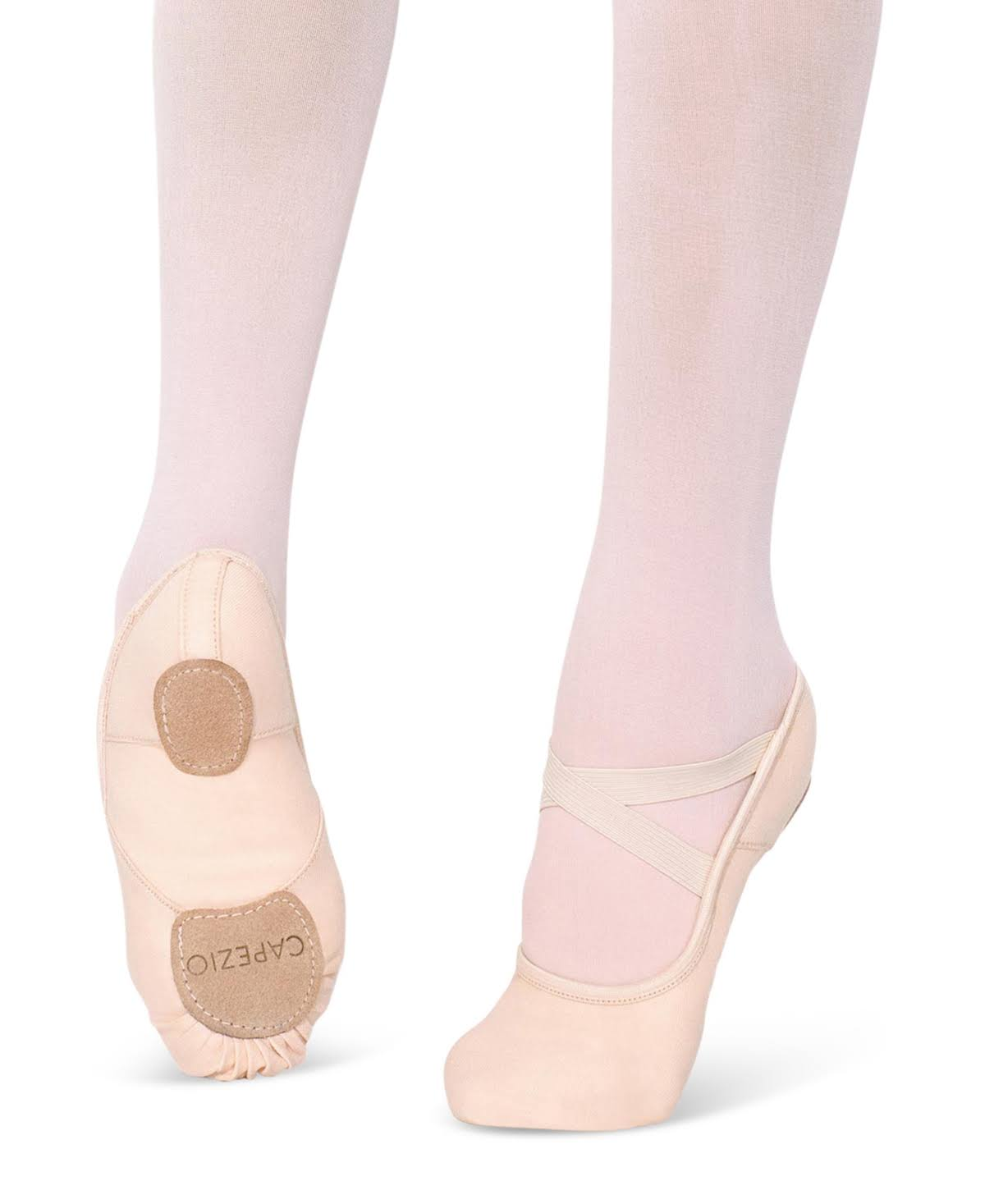 Capezio 2037w Ladies Split Sole Hanami Dance Ballet Shoes - Pink, 5 UK
