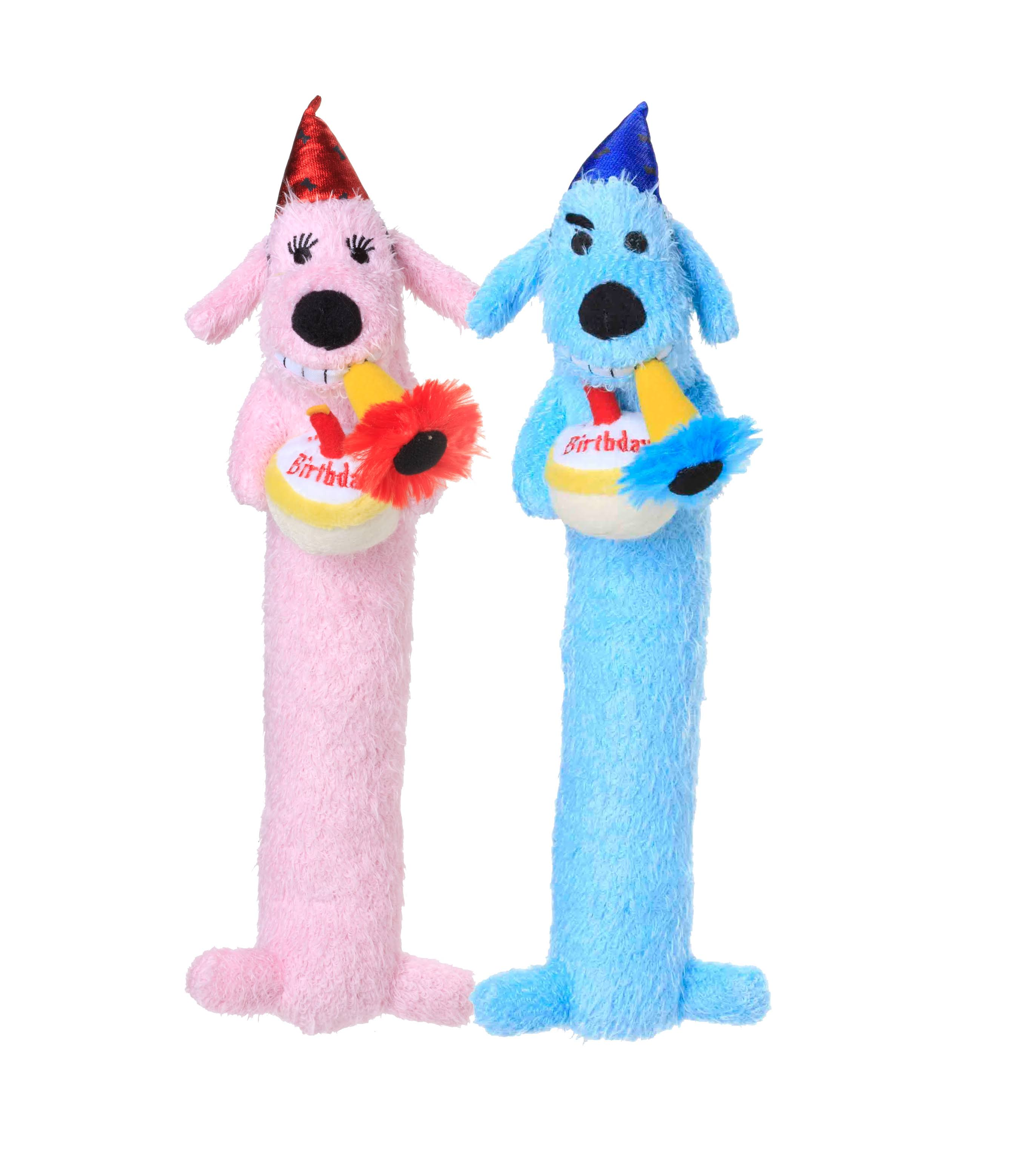 Multipet's 12-inch Happy Birthday Loofa Dog Toy