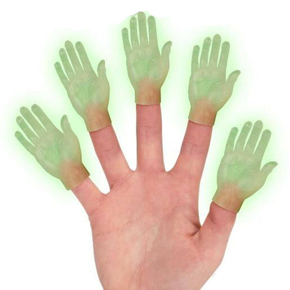 Accoutrements Glow in The Dark Hand Finger Puppet, 1 Count