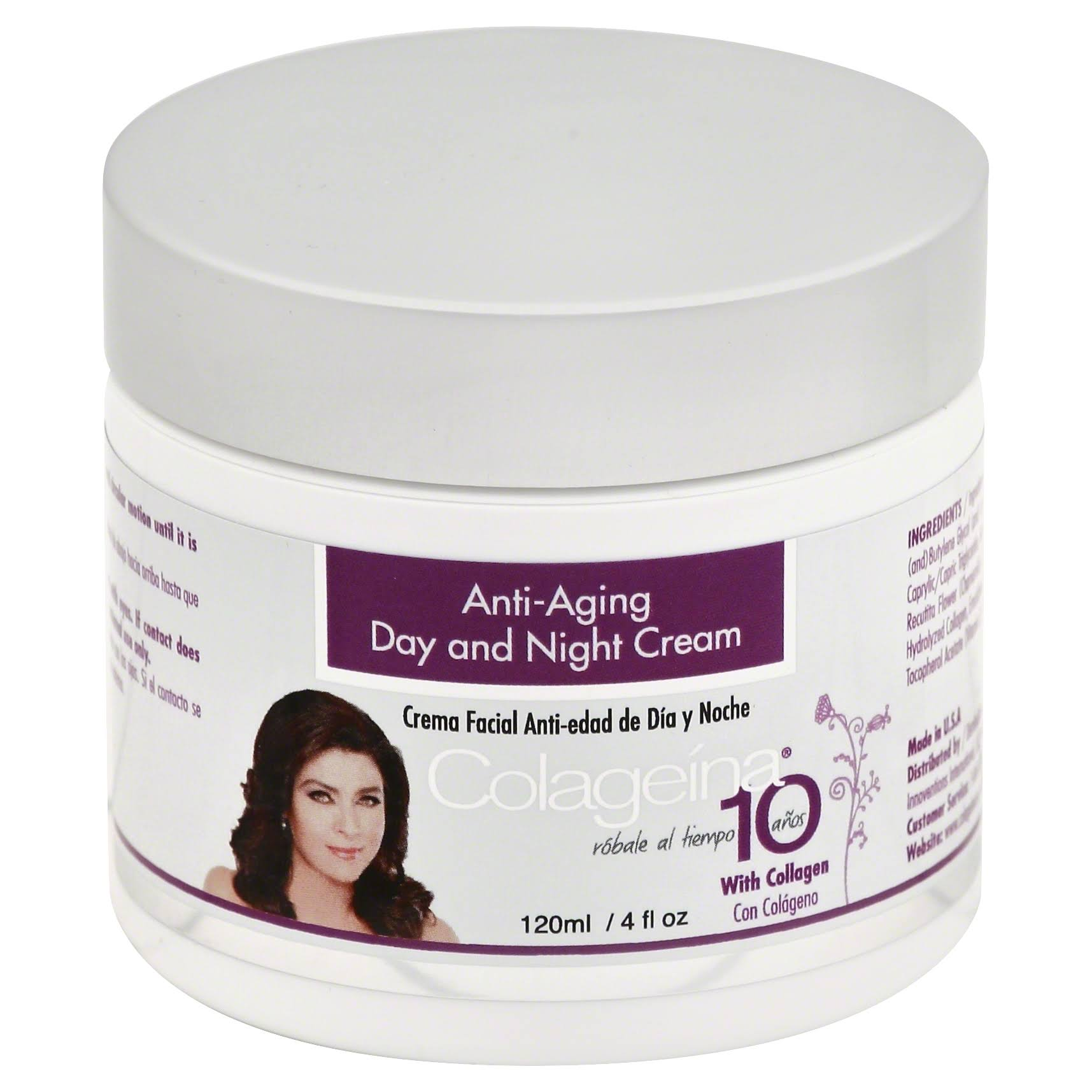Colageina 10 Anti-aging Day and Night Cream - 4oz