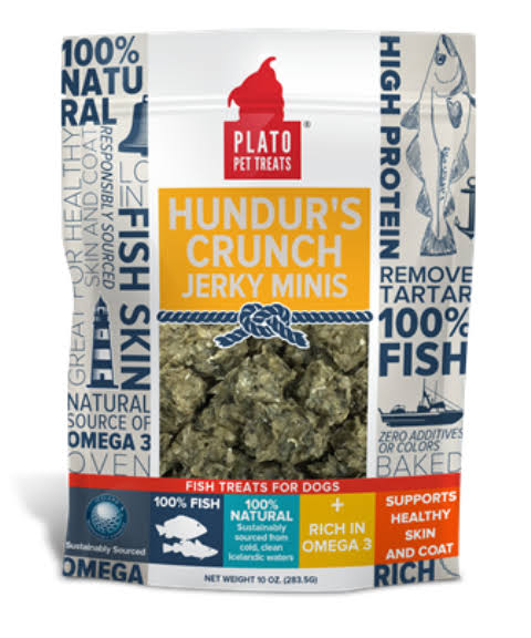 Plato Hundur's Crunch Jerky Minis Fish Treats for Dogs