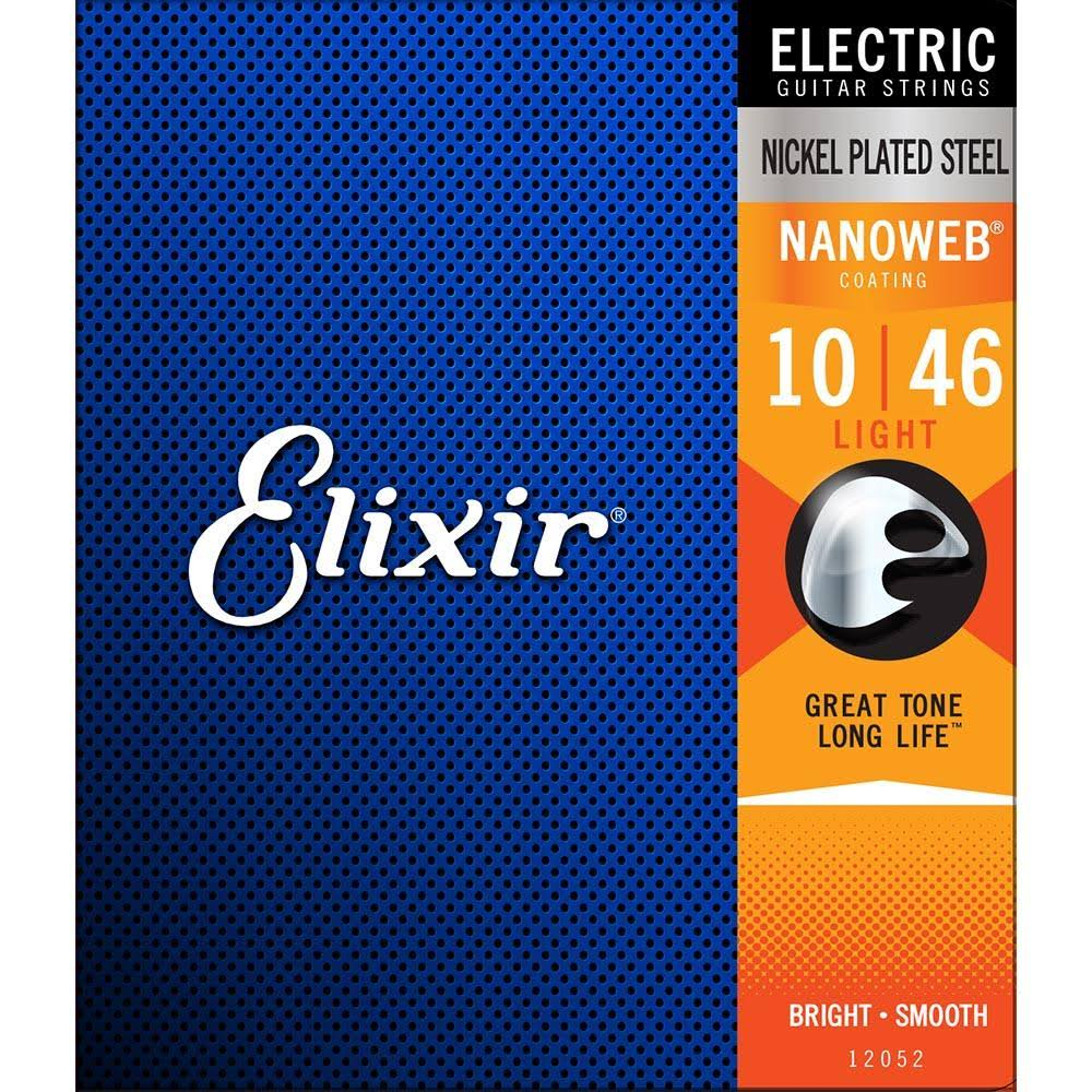 Elixir Anti-Rust Electric Guitar Strings - Light