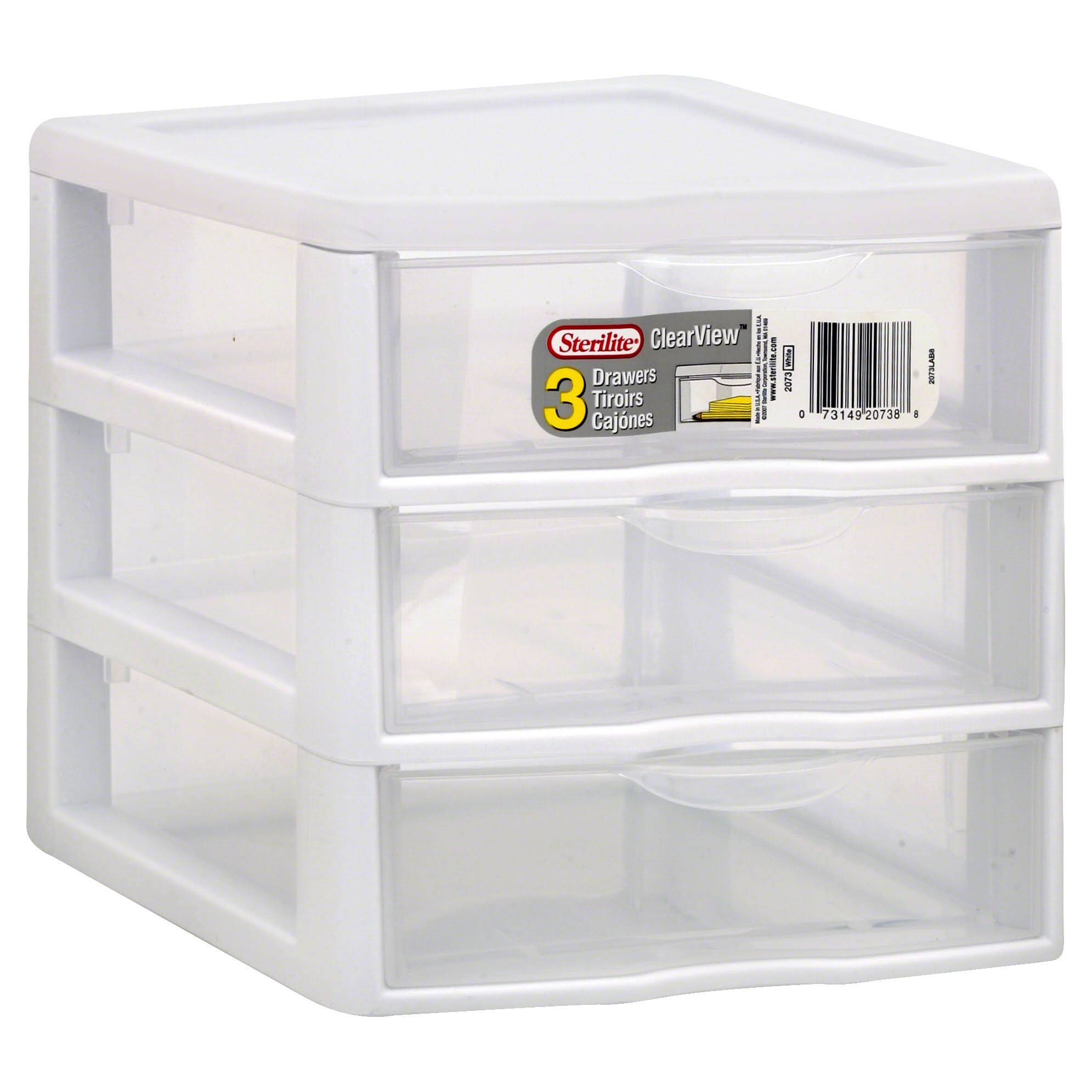 Sterilite 3 Drawer Mini Organizer - Clear