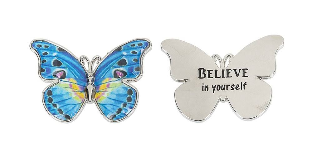 Ganz Keepsake Enjoy The Journey Colorful Butterfly Pocket Charm (Believe)