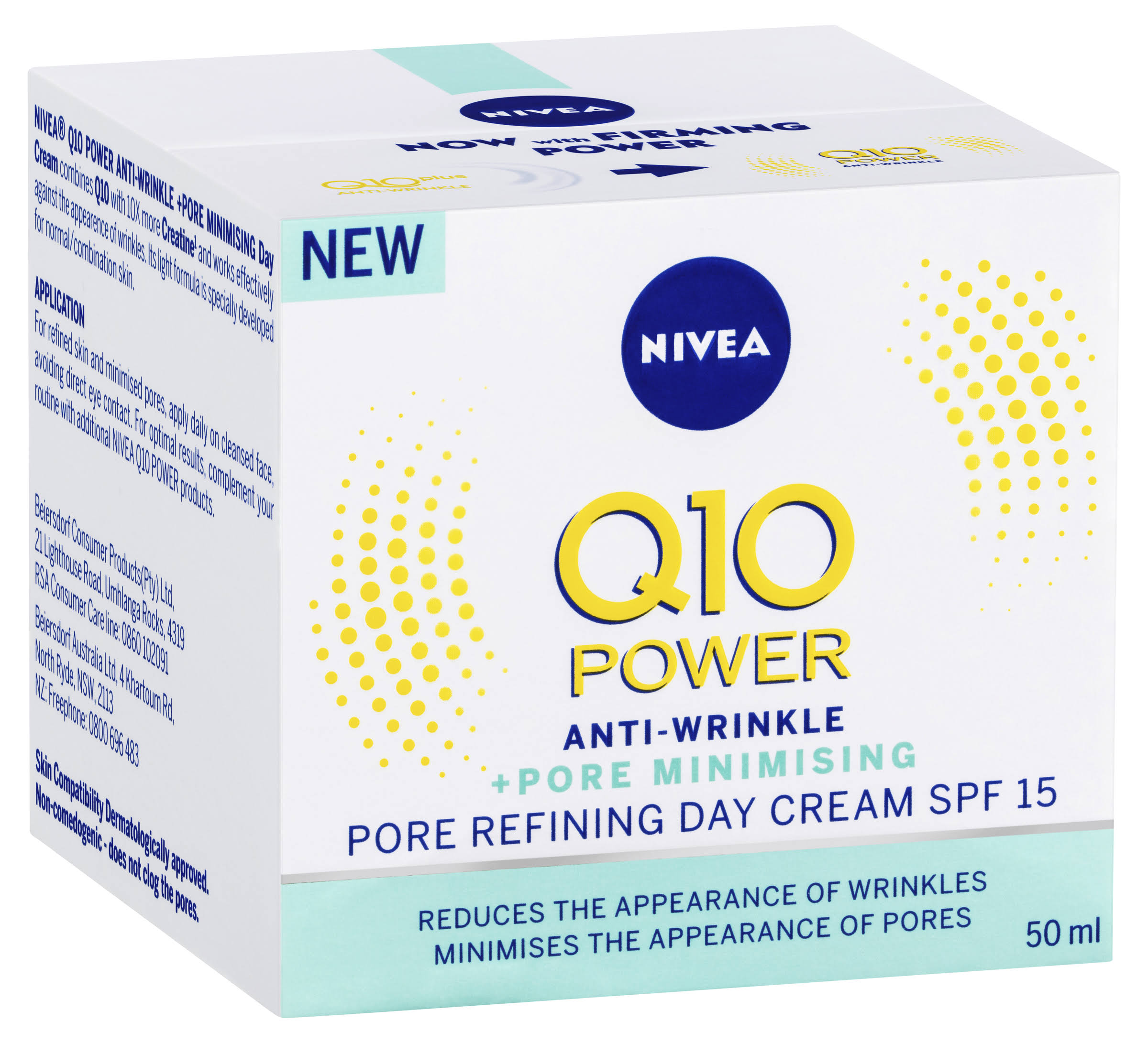 Nivea Q10 Power Anti Wrinkle + Pore Refining Day Cream - 50ml