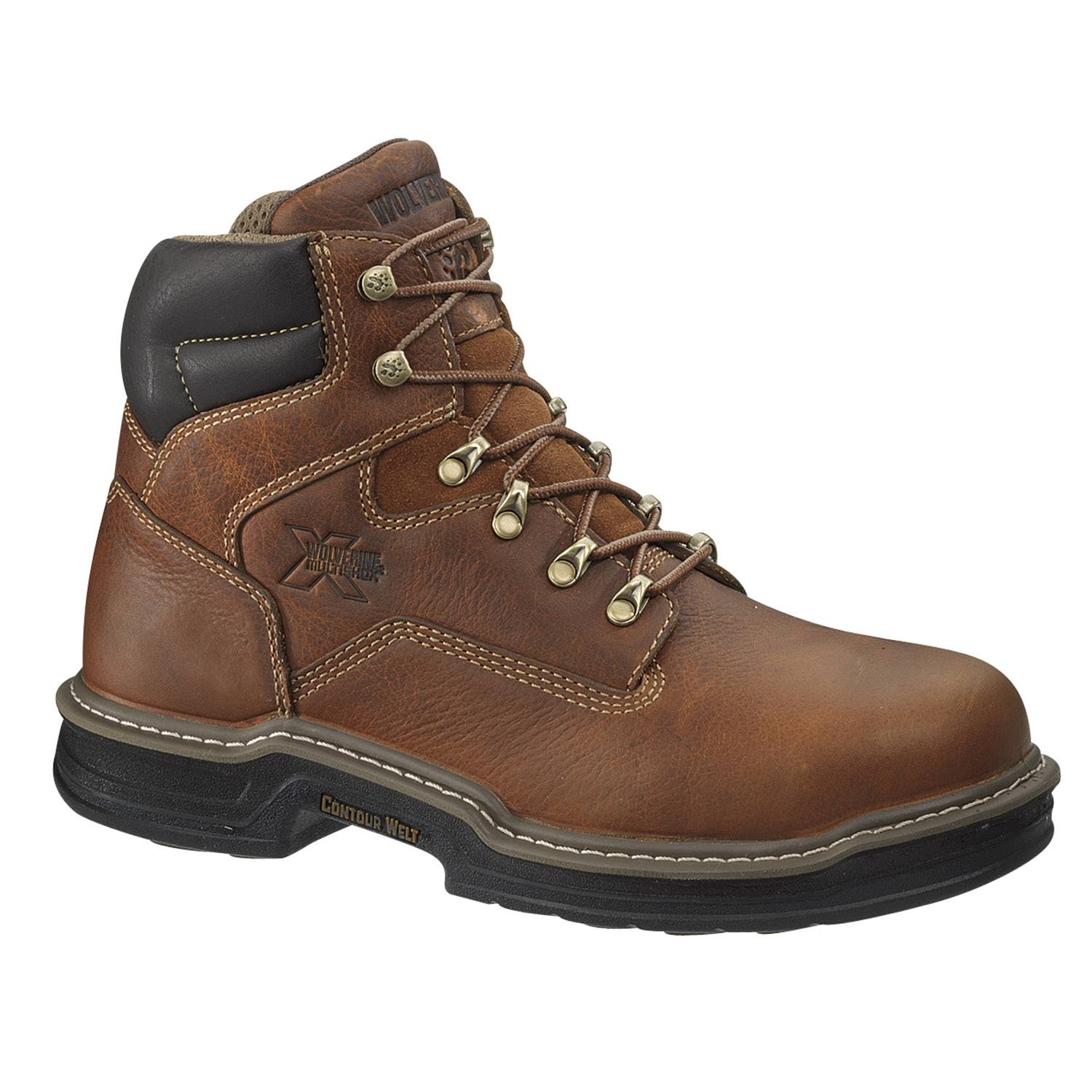 "Wolverine Men's Raider Steel-Toe Work Boots - Brown, 6"", 10 US"