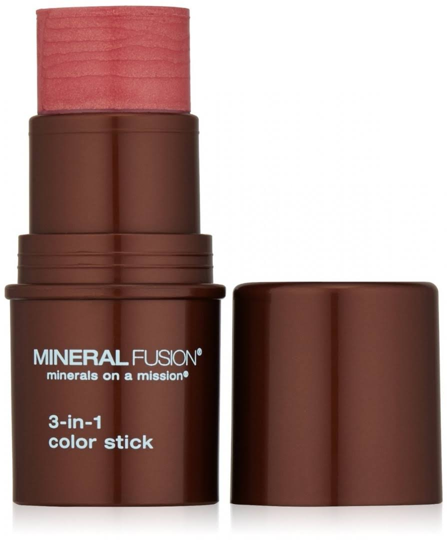 Mineral Fusion Natural Brands 3 in 1 Color Stick Lipstick - Rosette, 5g