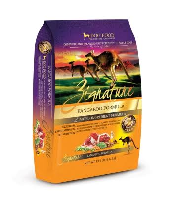 Zignature Kangaroo Formula Dry Dog Food 13.5 lbs