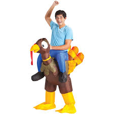 Halloween Express Charlotte Nc by Inflatable Turkey Rider Costume Ebay