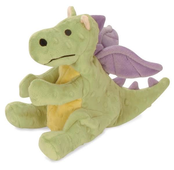 GoDog Dragon With Chew Guard Technology Tough Plush Dog Toy - Lime