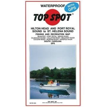 Top Spot Fishing Map for Homosassa Area
