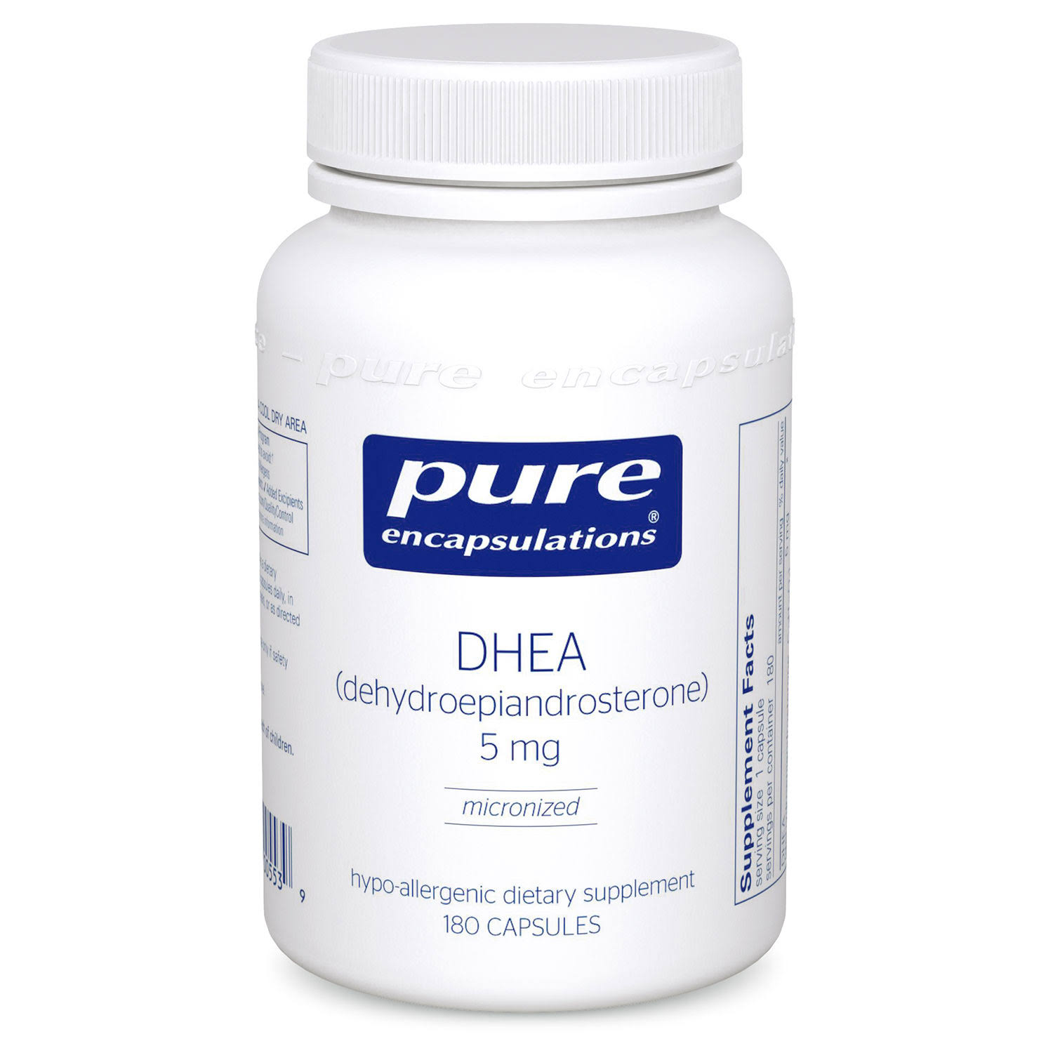 Pure Encapsulations - DHEA - 5 mg - 180 Capsules