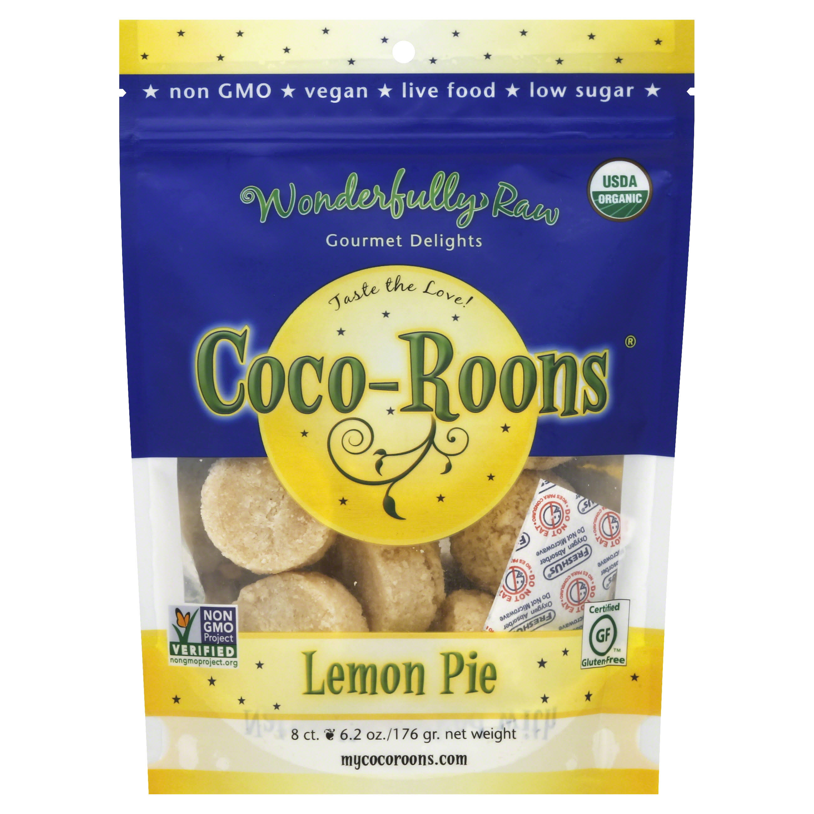 Wonderfully Raw Gourmet Delights Organic Coco-Roons - Lemon Pie, 6.2oz