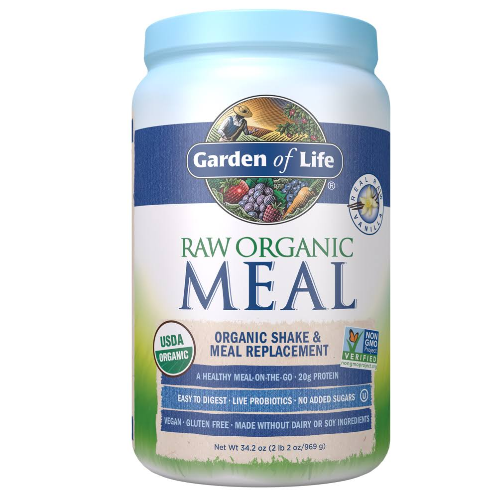 Garden of Life Raw Organic Meal Shake Powder - Vanilla, 949g