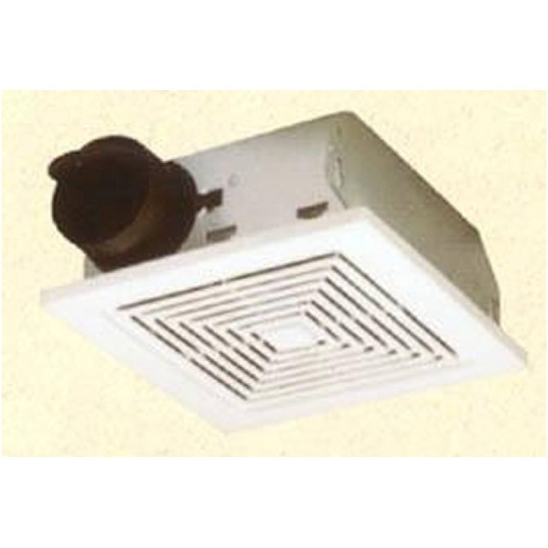 Broan 688 Ceiling and Wall Mount Fan - 50 CFM 4.0 Sones, White Plastic Grille