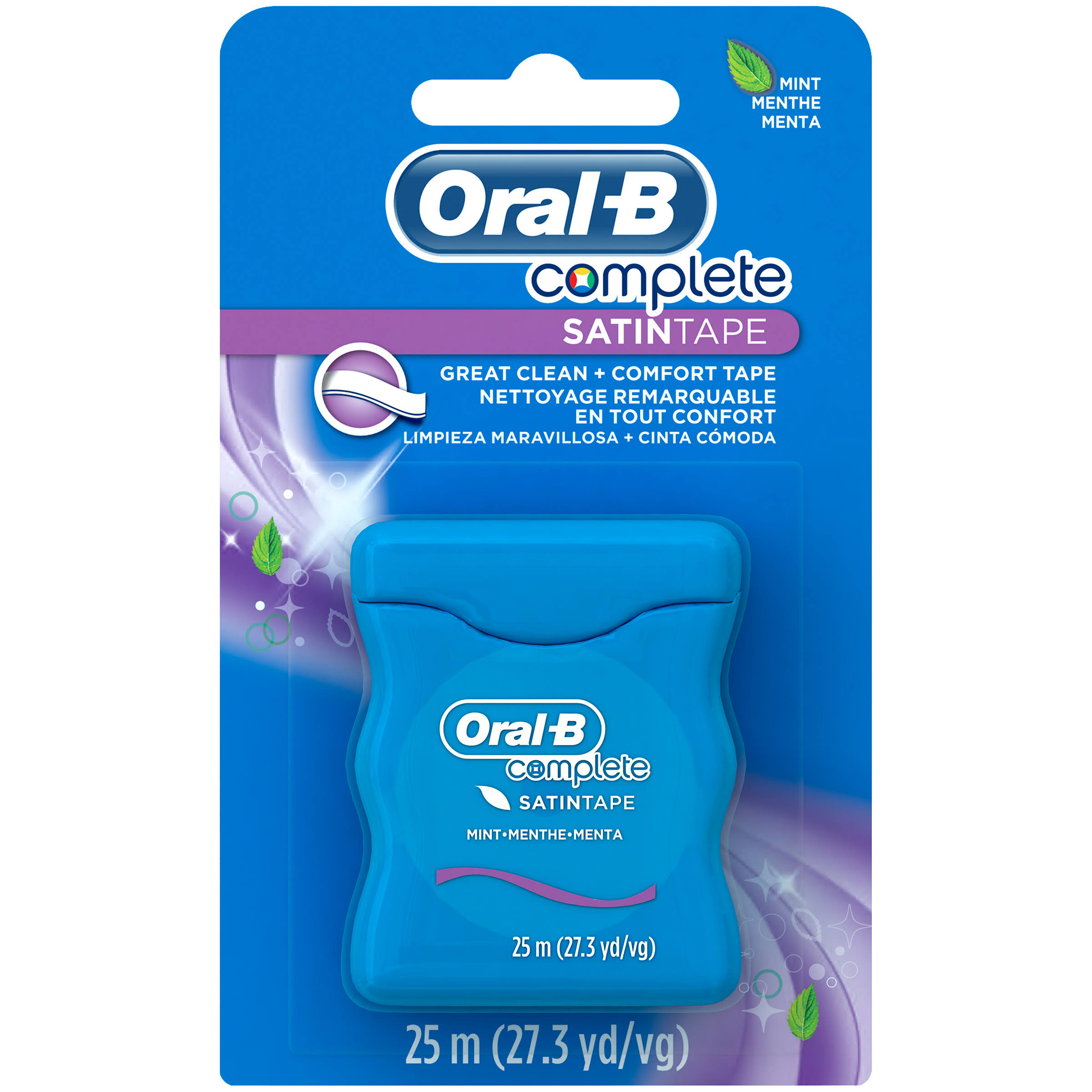 Oral-B Satin Dental Tape - Mint, 25m