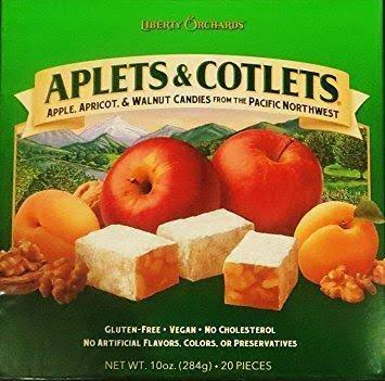 Liberty Orchards Aplets and Cotlets Candies - 10oz, 20 pcs