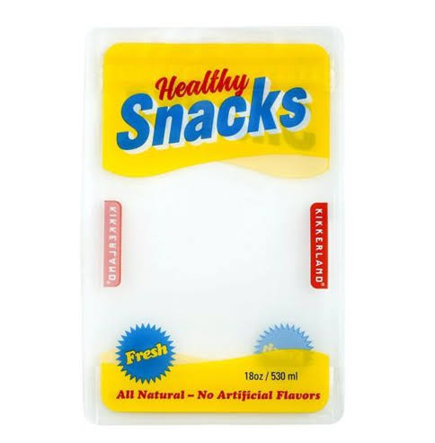 Kikkerland 4 Pack 8oz Reusable Snack Pouch - Clear