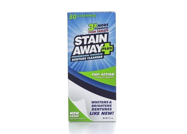 Stain Away Plus Professional Strength Denture Cleanser - 8.1oz, 80 Count