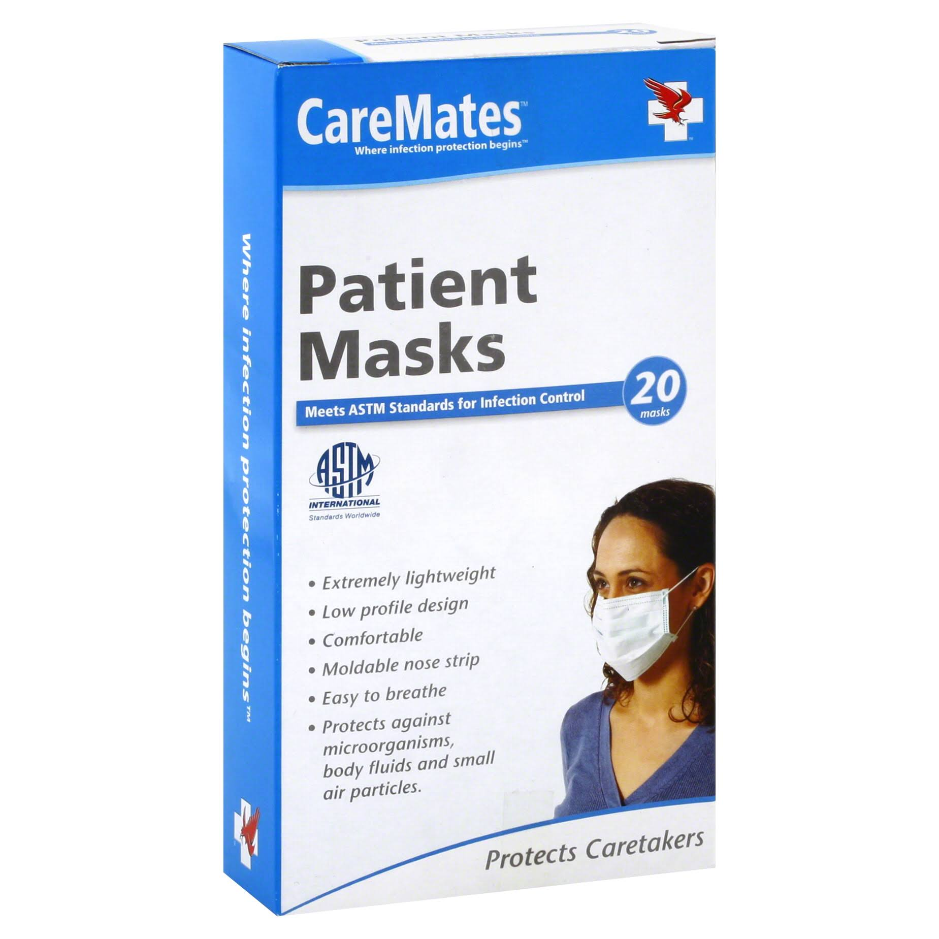 Caremates Surgeon's Mask - 20 Count