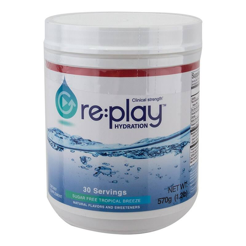 Hydration Health Food Hydration Health Mix Replay Energy Drink - 30 Serving, Tropical Breeze, 570g