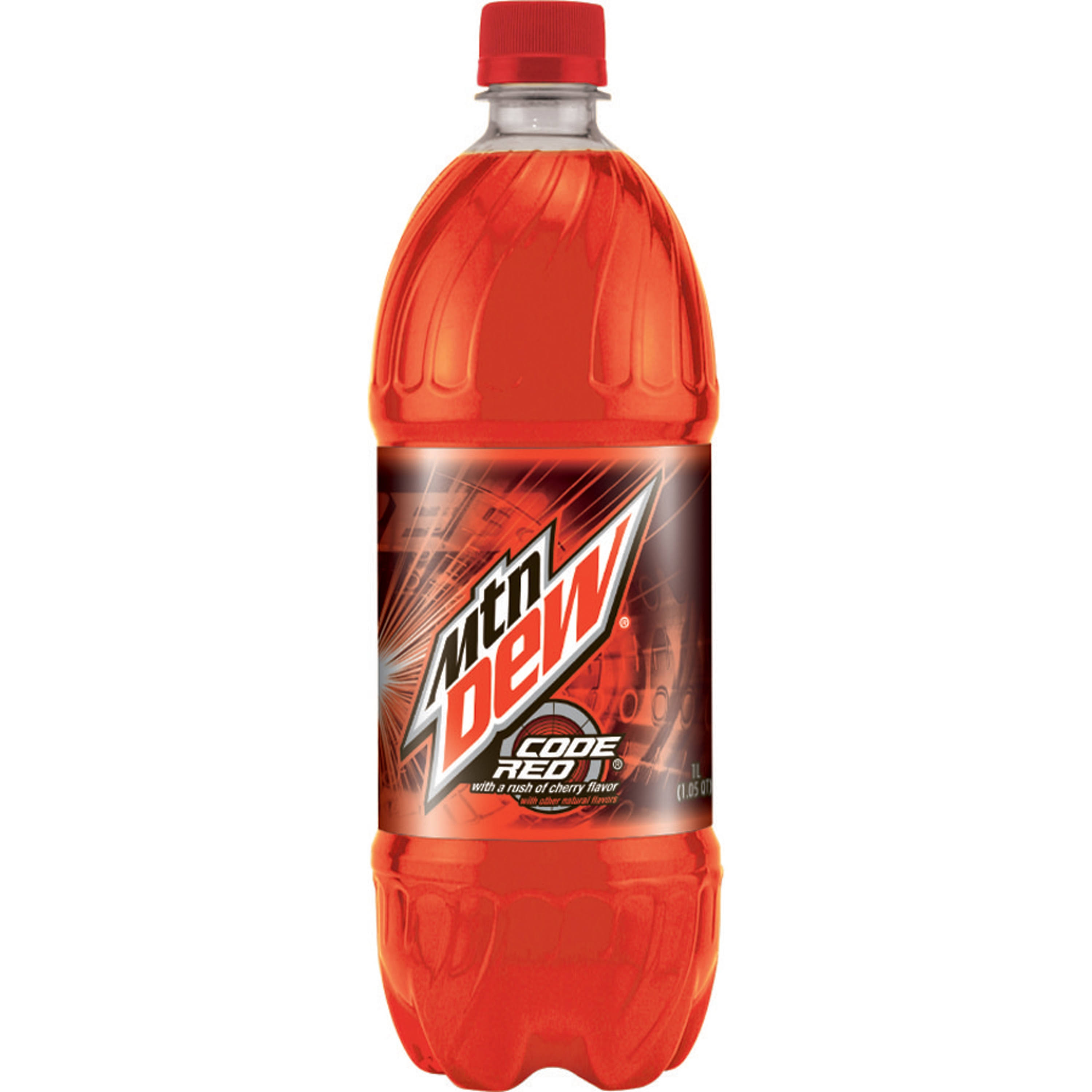 Mountain Dew Soda - Code Red, 1l