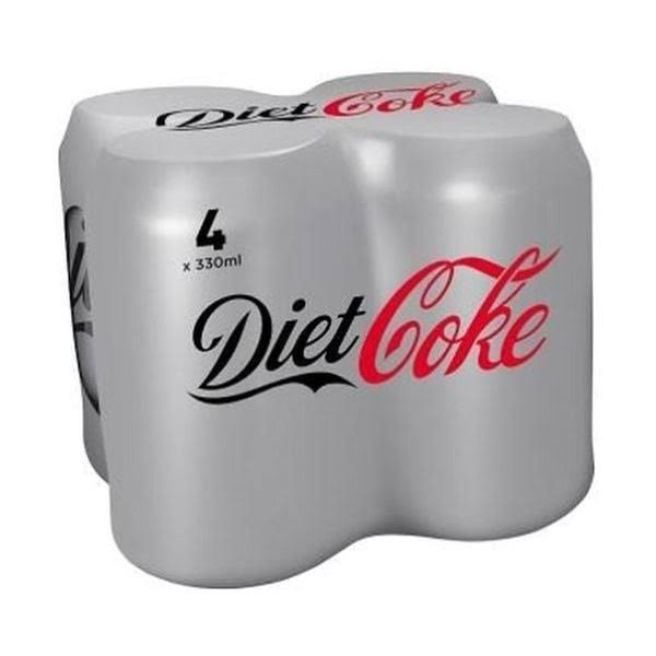 Diet Coke Soda - 330ml, 4pk