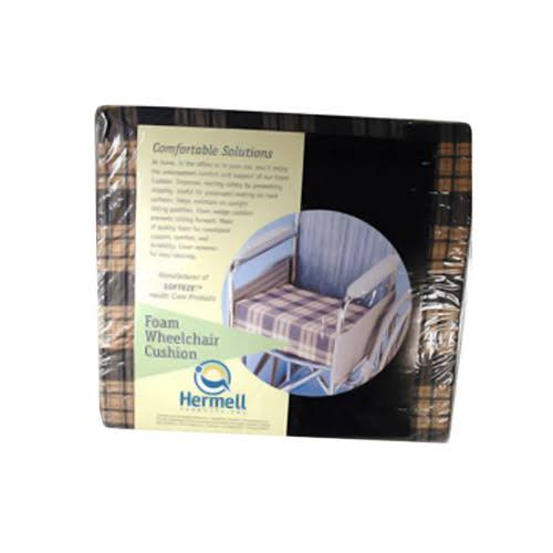 Hermell Products WC4440 Plaid Standard Foam Wheelchair Cushion