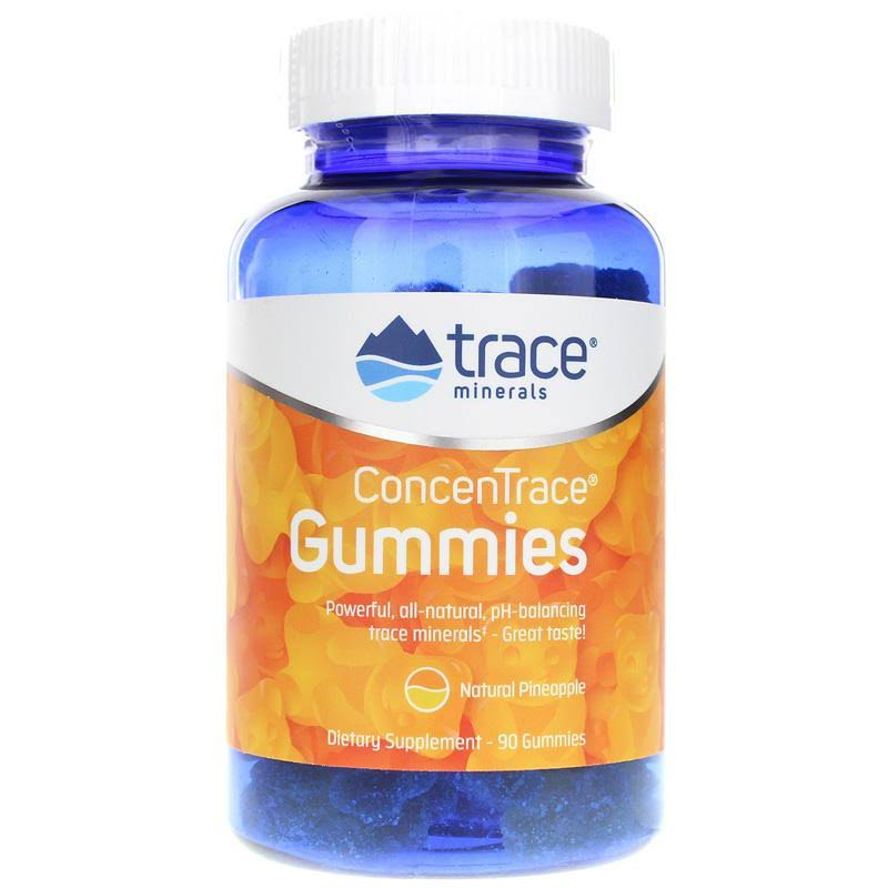 Trace Minerals ConcenTrace Gummies - Pineapple Flavor - 90 - Gummy