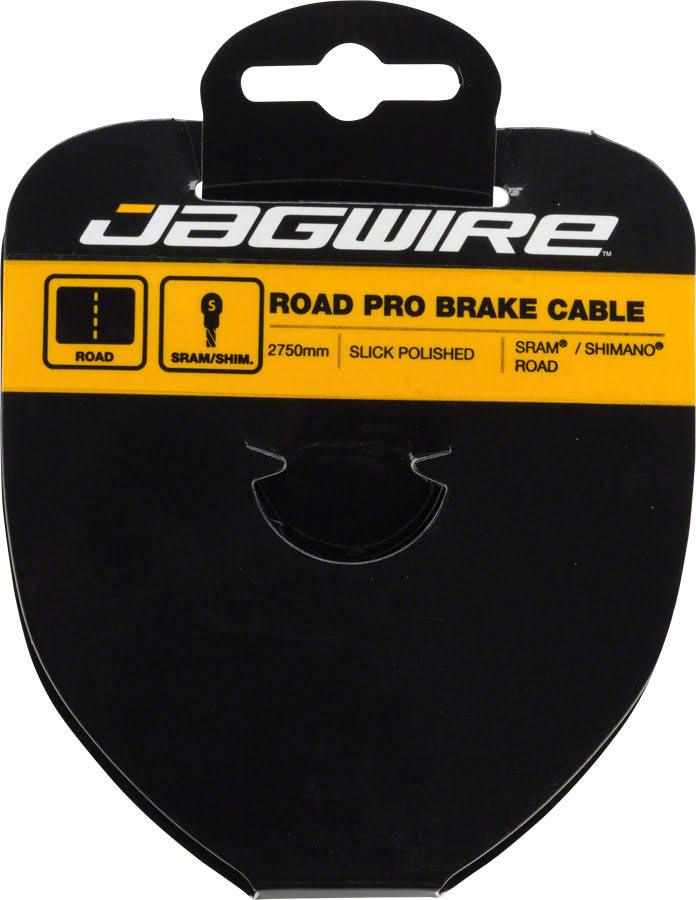 Jagwire Pro Polished Slick Stainless Road Brake Cable - Silver, 1.5mm x 2750mm