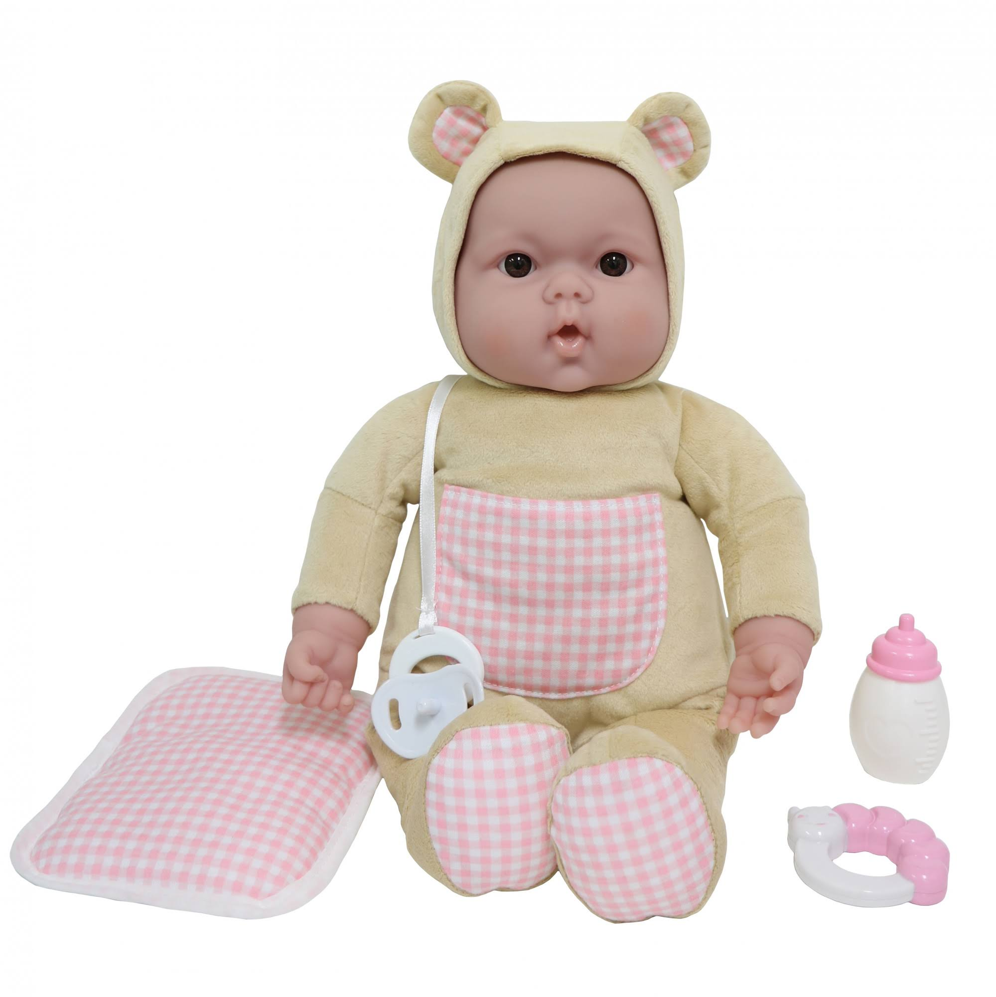 JC Toys Lots to Cuddle Babies Bed Time Friend 15 Soft Body Baby Doll and Accessories, Size: 15\, Beige